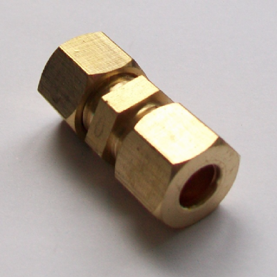 Brass Compression Straight Microbore Connector 8mm - 24400800